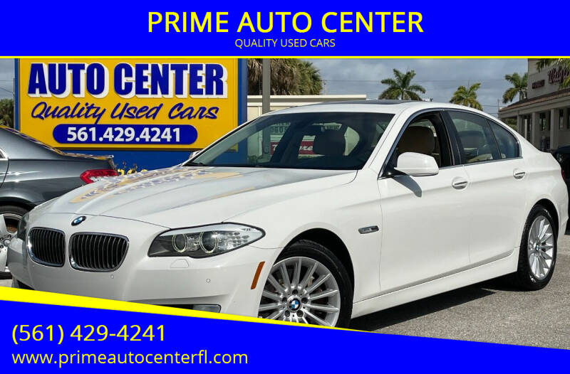 2011 BMW 5 Series for sale at PRIME AUTO CENTER in Palm Springs FL