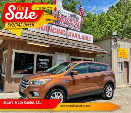 2017 Ford Escape for sale at Oscar's Truck Center, LLC in Houston TX