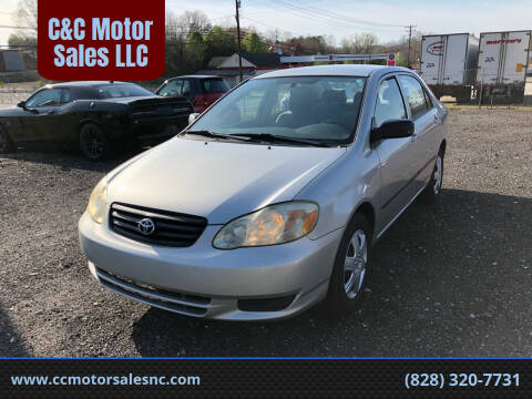 2003 Toyota Corolla for sale at C&C Motor Sales LLC in Hudson NC