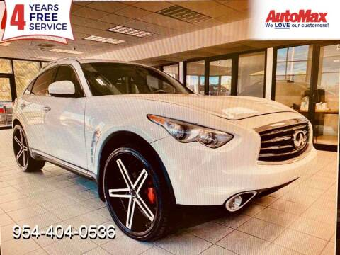 2012 Infiniti FX35 for sale at Auto Max in Hollywood FL