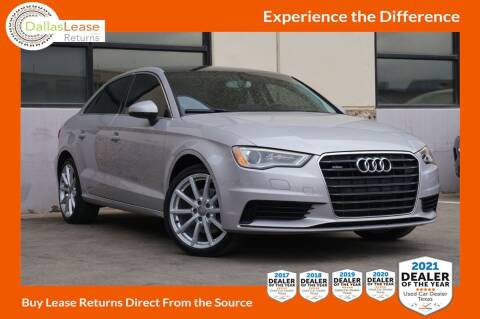 2015 Audi A3 for sale at Dallas Auto Finance in Dallas TX