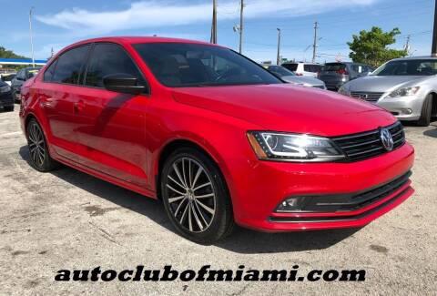 2016 Volkswagen Jetta for sale at AUTO CLUB OF MIAMI, INC in Miami FL