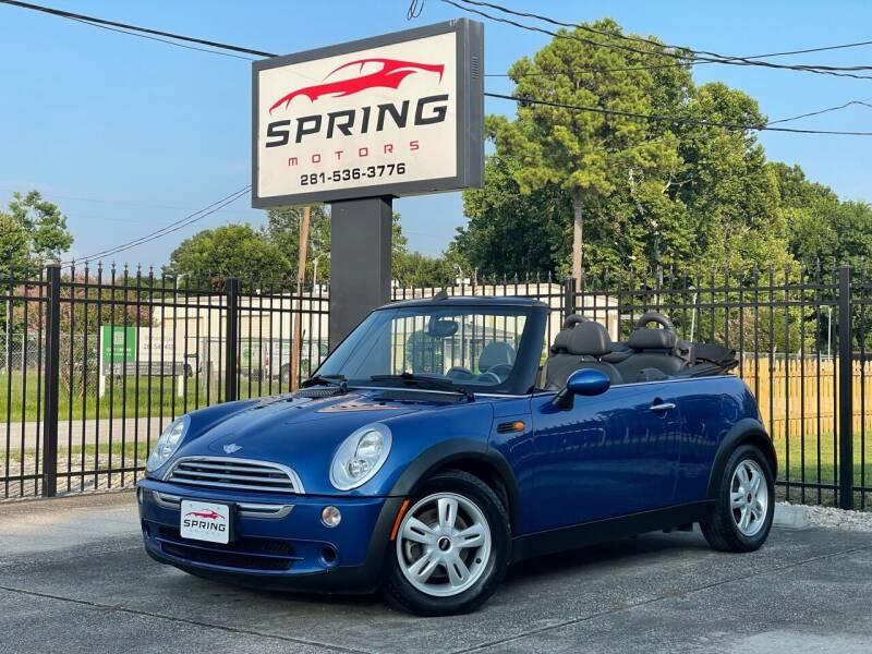 2006 MINI Cooper for sale at Spring Motors in Spring TX