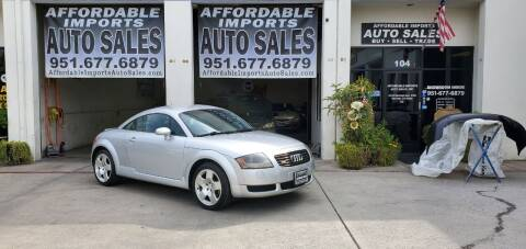 2001 Audi TT for sale at Affordable Imports Auto Sales in Murrieta CA