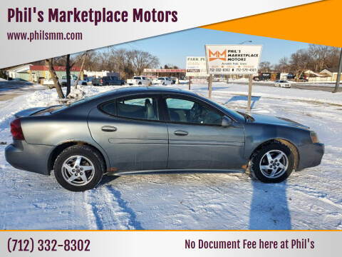 2004 Pontiac Grand Prix for sale at Phil's Marketplace Motors in Arnolds Park IA