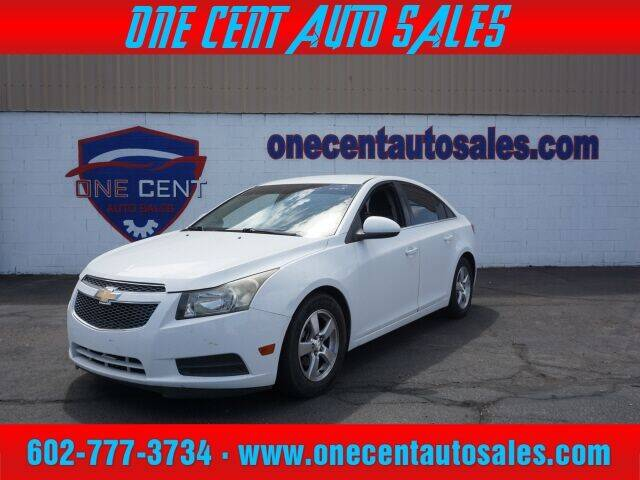 2013 Chevrolet Cruze for sale at One Cent Auto Sales in Glendale AZ