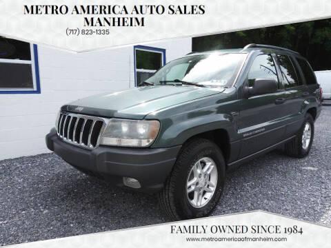 2003 Jeep Grand Cherokee for sale at METRO AMERICA AUTO SALES of Manheim in Manheim PA
