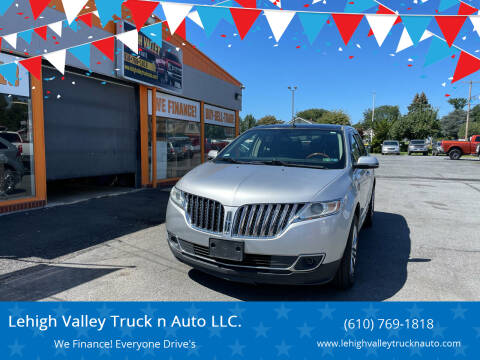 2013 Lincoln MKX for sale at Lehigh Valley Truck n Auto LLC. in Schnecksville PA