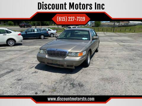 2002 Mercury Grand Marquis for sale at Discount Motors Inc in Nashville TN