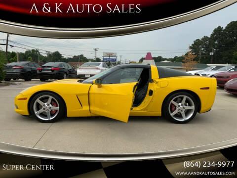 2005 Chevrolet Corvette for sale at A & K Auto Sales in Mauldin SC