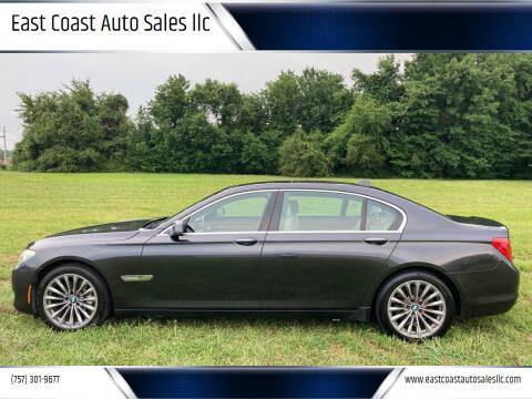 2012 BMW 7 Series for sale at East Coast Auto Sales llc in Virginia Beach VA