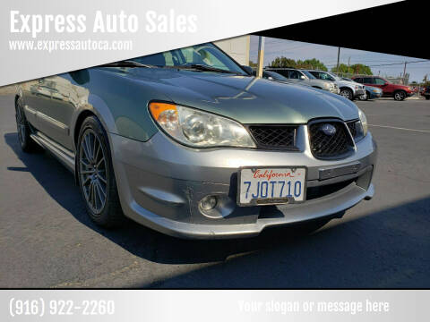 2007 Subaru Impreza for sale at Express Auto Sales in Sacramento CA
