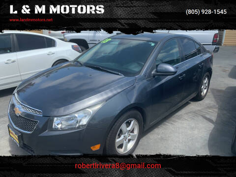 2013 Chevrolet Cruze for sale at L & M MOTORS in Santa Maria CA