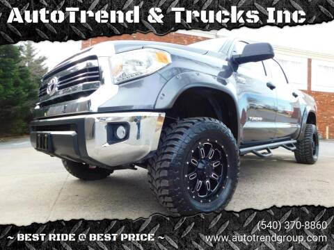 2017 Toyota Tundra for sale at AutoTrend & Trucks Inc in Fredericksburg VA