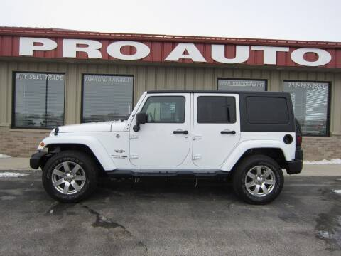 2018 Jeep Wrangler JK Unlimited for sale at Pro Auto Sales in Carroll IA