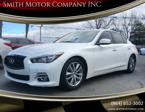 2015 Infiniti Q50 Hybrid for sale at Smith Motor Company INC in Mc Cormick SC