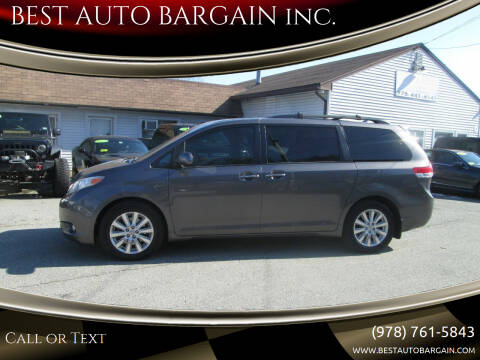 2012 Toyota Sienna for sale at BEST AUTO BARGAIN inc. in Lowell MA