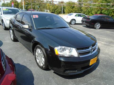 2013 Dodge Avenger for sale at River City Auto Sales in Cottage Hills IL