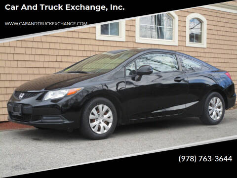 2012 Honda Civic for sale at Car and Truck Exchange, Inc. in Rowley MA