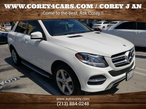 2018 Mercedes-Benz GLE for sale at WWW.COREY4CARS.COM / COREY J AN in Los Angeles CA