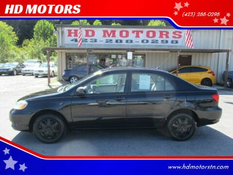 2008 Toyota Corolla for sale at HD MOTORS in Kingsport TN