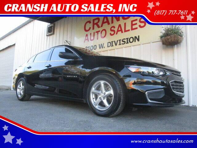 2017 Chevrolet Malibu for sale at CRANSH AUTO SALES, INC in Arlington TX