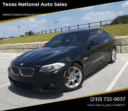 2013 BMW 5 Series for sale at Texas National Auto Sales in San Antonio TX