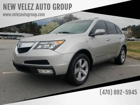2013 Acura MDX for sale at NEW VELEZ AUTO GROUP in Gainesville GA