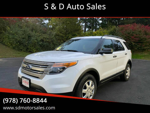 2013 Ford Explorer for sale at S & D Auto Sales in Maynard MA