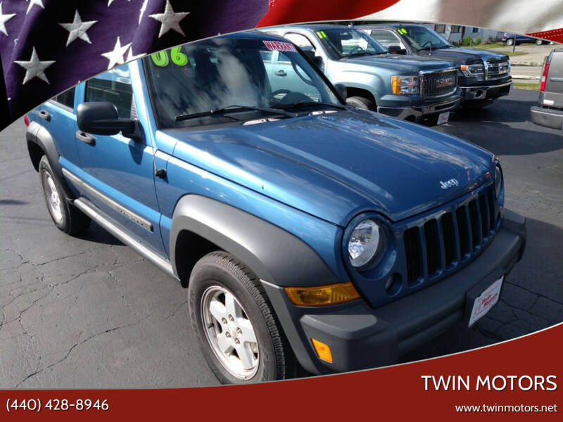 2006 Jeep Liberty for sale at TWIN MOTORS in Madison OH