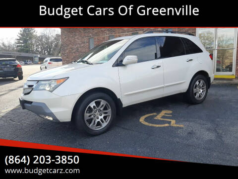2009 Acura MDX for sale at Budget Cars Of Greenville in Greenville SC
