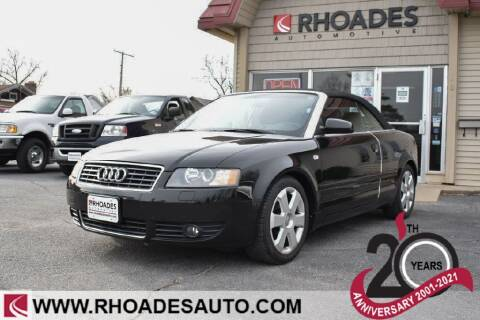 2006 Audi A4 for sale at Rhoades Automotive in Columbia City IN