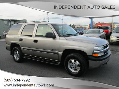 2002 Chevrolet Tahoe for sale at Independent Auto Sales in Spokane Valley WA
