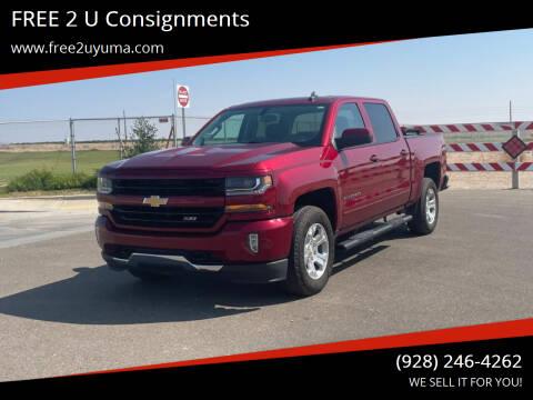 2018 Chevrolet Silverado 1500 for sale at FREE 2 U Consignments in Yuma AZ