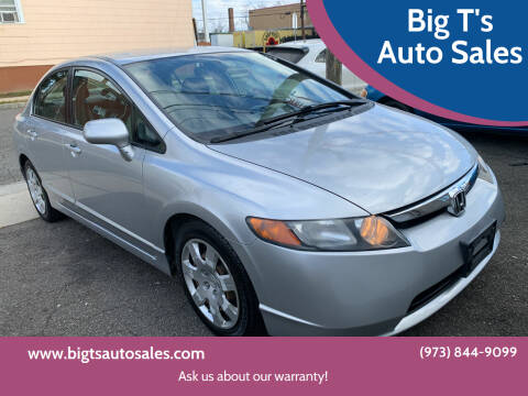 2008 Honda Civic for sale at Big T's Auto Sales in Belleville NJ