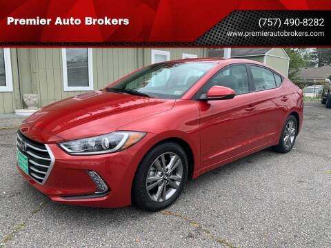 2017 Hyundai Elantra for sale at Premier Auto Brokers in Virginia Beach VA