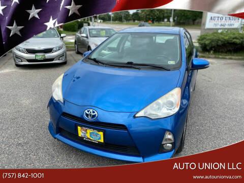 2013 Toyota Prius c for sale at Auto Union LLC in Virginia Beach VA