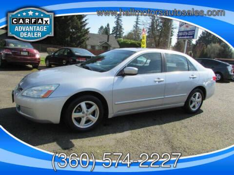 2005 Honda Accord for sale at Hall Motors LLC in Vancouver WA