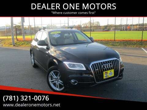 2015 Audi Q5 for sale at DEALER ONE MOTORS in Malden MA