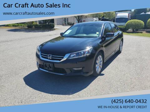 2014 Honda Accord for sale at Car Craft Auto Sales Inc in Lynnwood WA