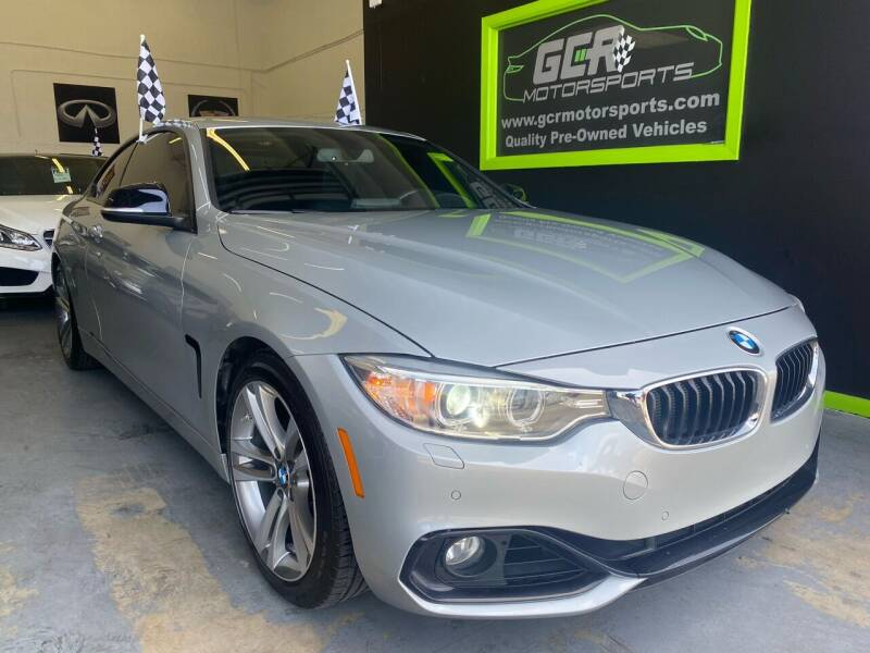 2015 BMW 4 Series for sale at GCR MOTORSPORTS in Hollywood FL