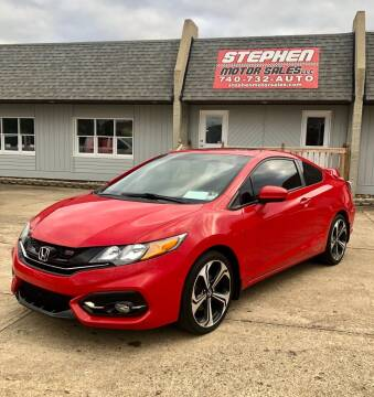 2015 Honda Civic for sale at Stephen Motor Sales LLC in Caldwell OH