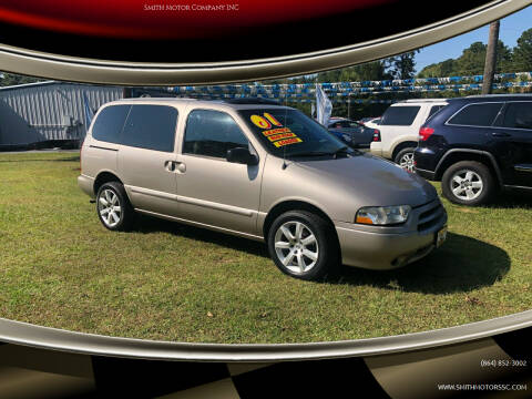 2001 Nissan Quest for sale at Smith Motor Company INC in Mc Cormick SC