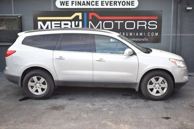 2012 Chevrolet Traverse for sale at Meru Motors in Hollywood FL