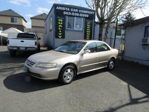 2001 Honda Accord for sale at ARISTA CAR COMPANY LLC in Portland OR