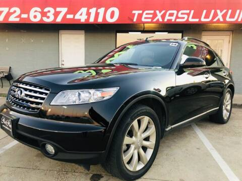 2003 Infiniti FX45 for sale at Texas Luxury Auto in Cedar Hill TX