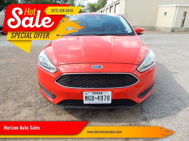 2015 Ford Focus for sale at Horizon Auto Sales in Irving TX