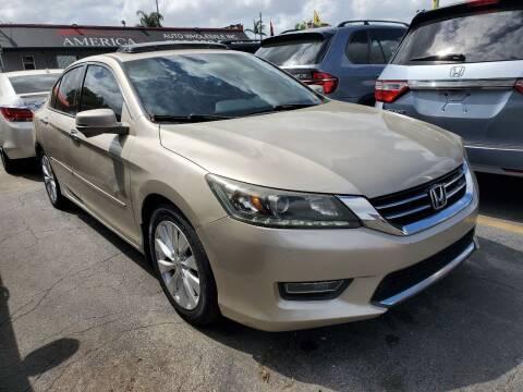 2013 Honda Accord for sale at America Auto Wholesale Inc in Miami FL