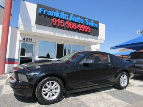 2009 Ford Mustang for sale at Franklin Auto Sales in El Paso TX