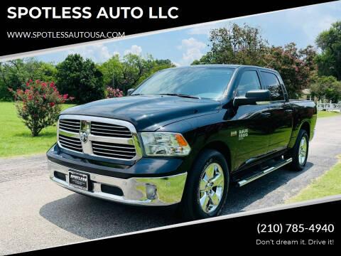 2019 RAM Ram Pickup 1500 Classic for sale at SPOTLESS AUTO LLC in San Antonio TX
